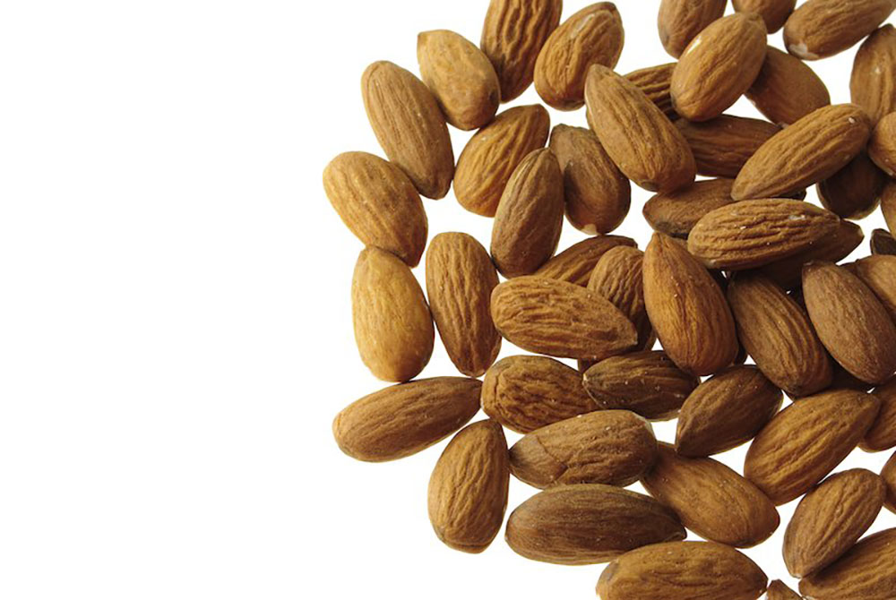 Photo of almonds sourced and supplied by The Greater Goods food consultants and brokers