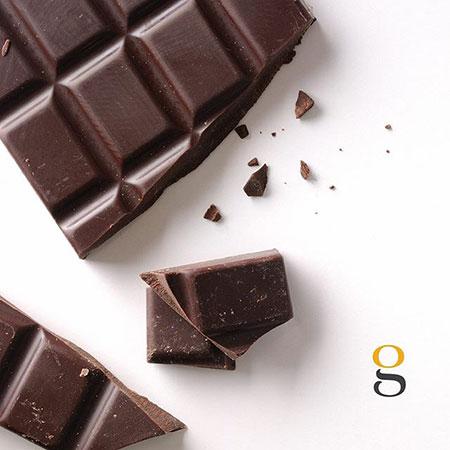 Chocolate bar broken off into pieces.